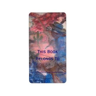 Bookplate de PONY EXPRESS Etiquetas De Dirección