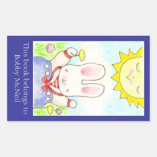 Bookplate del conejito del marinero rectangular altavoces