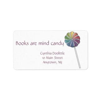 Bookplate del Lollipop del molinillo de viento Etiqueta De Dirección