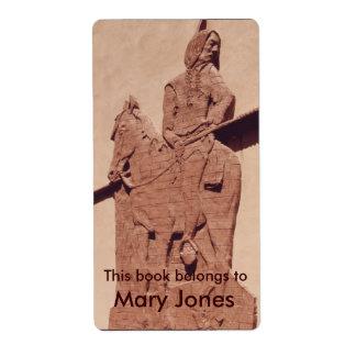 Bookplate del nativo americano etiqueta de envío