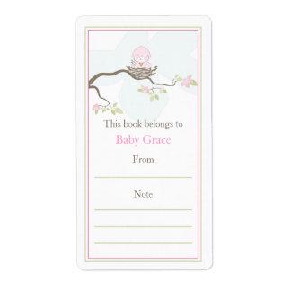Bookplate del pájaro de bebé etiquetas de envío