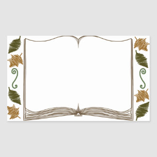 Bookplate del pegatina de las hojas de otoño