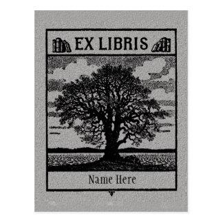 Bookplate Ex Libris Tree in Field Postcard
