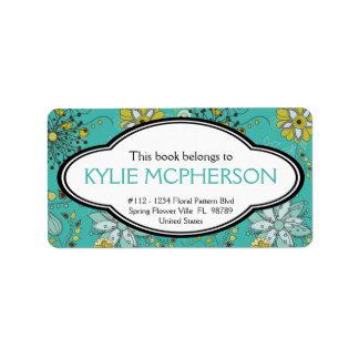 Bookplate femenino personalizado del estampado de etiquetas de dirección