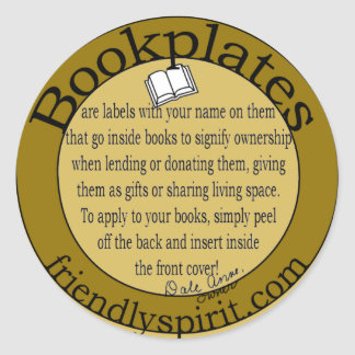 Bookplate for my website