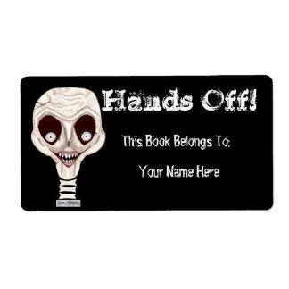 Bookplate horrible del cráneo etiquetas de envío