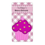 Bookplate Label Teens Kids Book Pink Cupcake Check