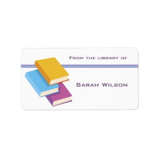 Bookplate Labels label
