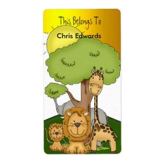Bookplate Labels School Teens Kids Jungle 2