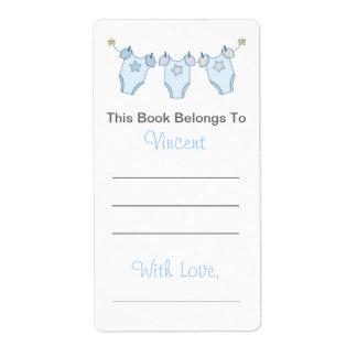 Bookplate lindo de la fiesta de bienvenida al bebé etiquetas de envío