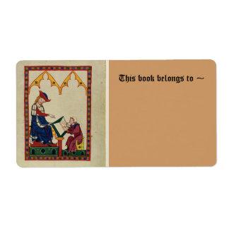 Bookplate medieval etiquetas de envío