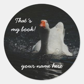 bookplate My book! Classic Round Sticker