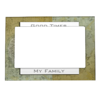 Bookplate Old Green Magnetic Photo Frame