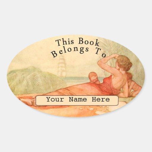 Bookplate Oval Sticker