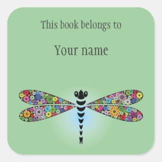 Bookplate personalizado del pegatina de la libélul