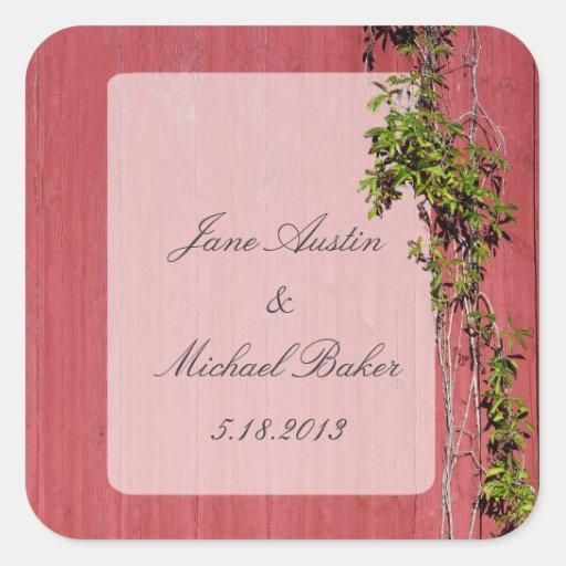 Bookplate rojo y rosado de la etiqueta del regalo