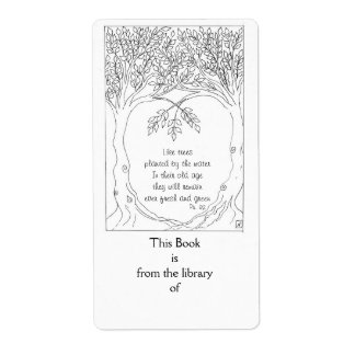 Bookplate: Salmo 92 Etiqueta De Envío