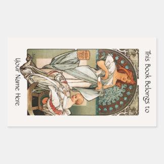 Bookplate Rectangular Sticker