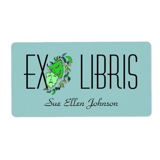 Bookplate Theatre Ex Libris Name Performing Arts