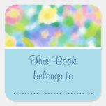 Bookplates adhesivos de las primaveras bonitas a m pegatina cuadradas