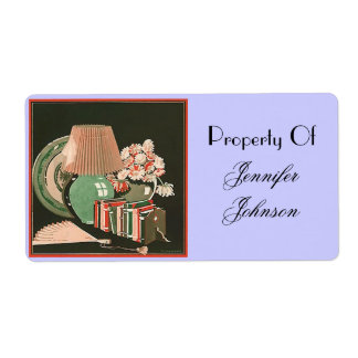 Bookplates Books Belongings Property Of Your Name