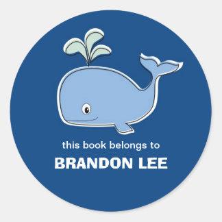 Bookplates de la ballena, BB Etiquetas Redondas