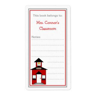 Bookplates de la escuela para el regalo de la sala etiquetas de envío