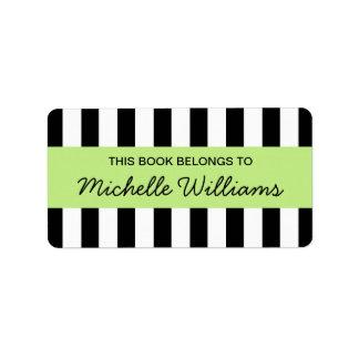Bookplates de moda del panel de la verde lima de etiquetas de dirección