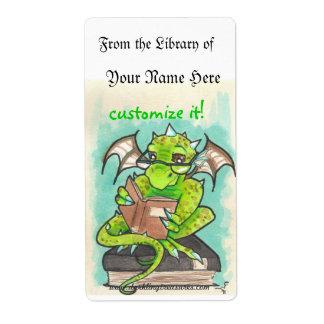 Bookplates del pegatina del arte de la fantasía de etiquetas de envío