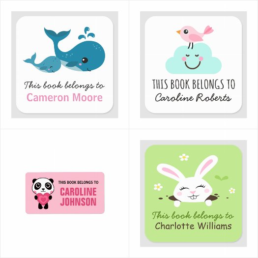 Bookplates for kids