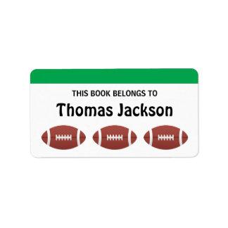 Bookplates personalizados del dibujo animado del etiqueta de dirección