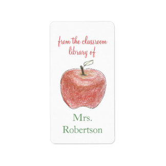 Bookplates personalizados del regalo del profesor etiquetas de dirección