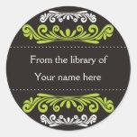 Bookplates personalizados - Flourishes coloridos Pegatina