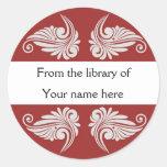 Bookplates personalizados - Flourishes Pegatina