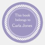 Bookplates personalizados: Lunares de la lavanda Etiqueta