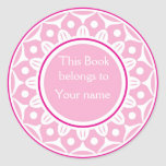 Bookplates personalizados personalizado - rosas cl etiqueta redonda