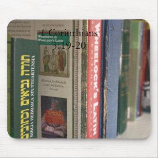 Books 1 Corinthians 3:19-20 Mousepad