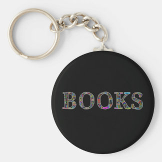 Books: a design for book lovers basic round button keychain