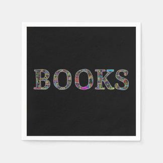 Books: a design for book lovers napkin