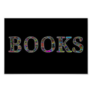 Books: a design for book lovers poster