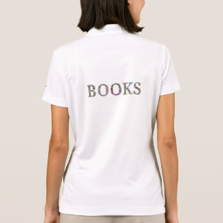 Books: a design for book lovers polo t-shirt