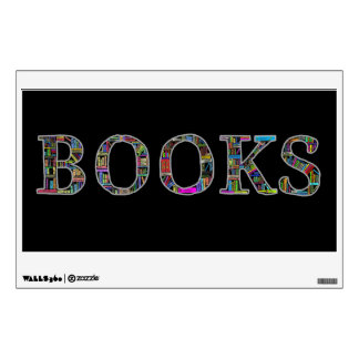 Books: a design for book lovers wall decal