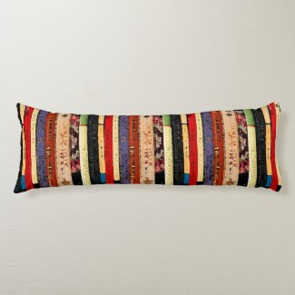 Books Abstract Body Pillow