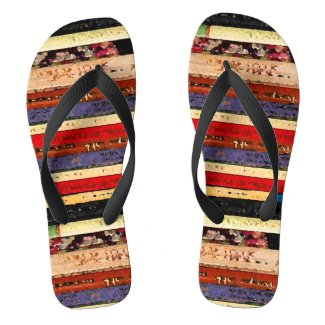 Books Abstract Flip Flops
