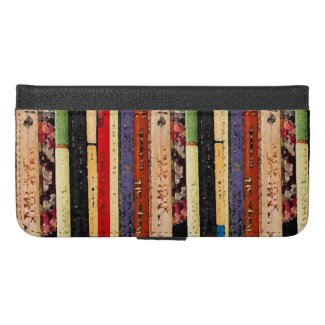 Books Abstract iPhone 6 Plus Wallet Case