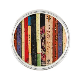 Books Abstract Lapel Pin