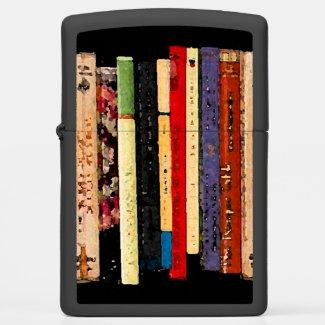 Books Abstract Zippo Lighter