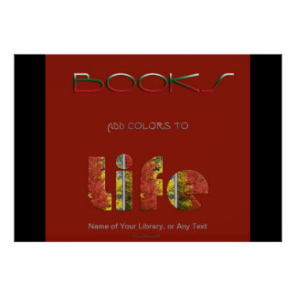 Books Add Colors Poster
