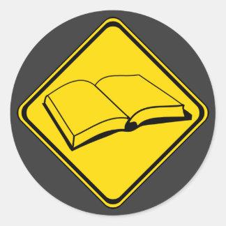 Books Ahead! Classic Round Sticker