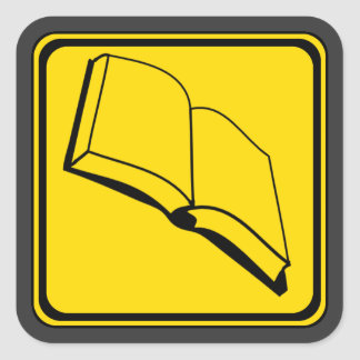 Books Ahead! Square Sticker